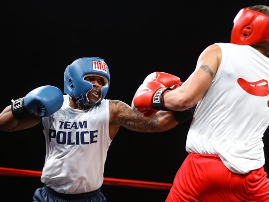 Police officers and firefighters face off Saturday in the Battle of the Badges.