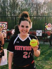 Westwood senior catcher Molly McGowan