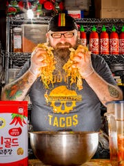 Sam Auen, owner of Tacopocalypse in Des Moines, which closed in 2018.