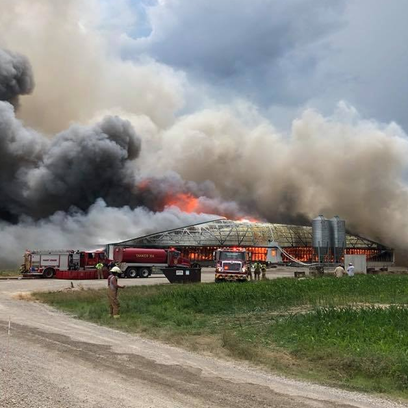 13 fire agencies from five counties fought a fire at