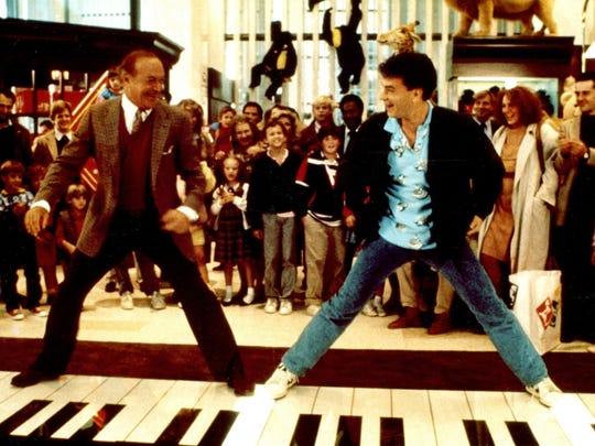 "Robert Loggia and Tom Hanks in the 1988 comedy ""Big."""