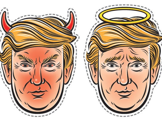 Angel or devil? You can decide. Pick your own Trump