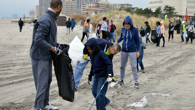 Atlantic City Electric employees, their family members and friends helped clean the beaches along Albany Avenue in Atlantic City as part of Clean Ocean Action's annual Spring Beach Sweeps held April 22.
