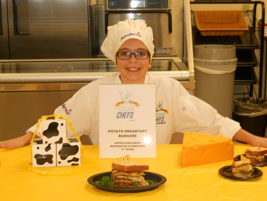 Fifth-grade student Sophia Kirklewski placed first
