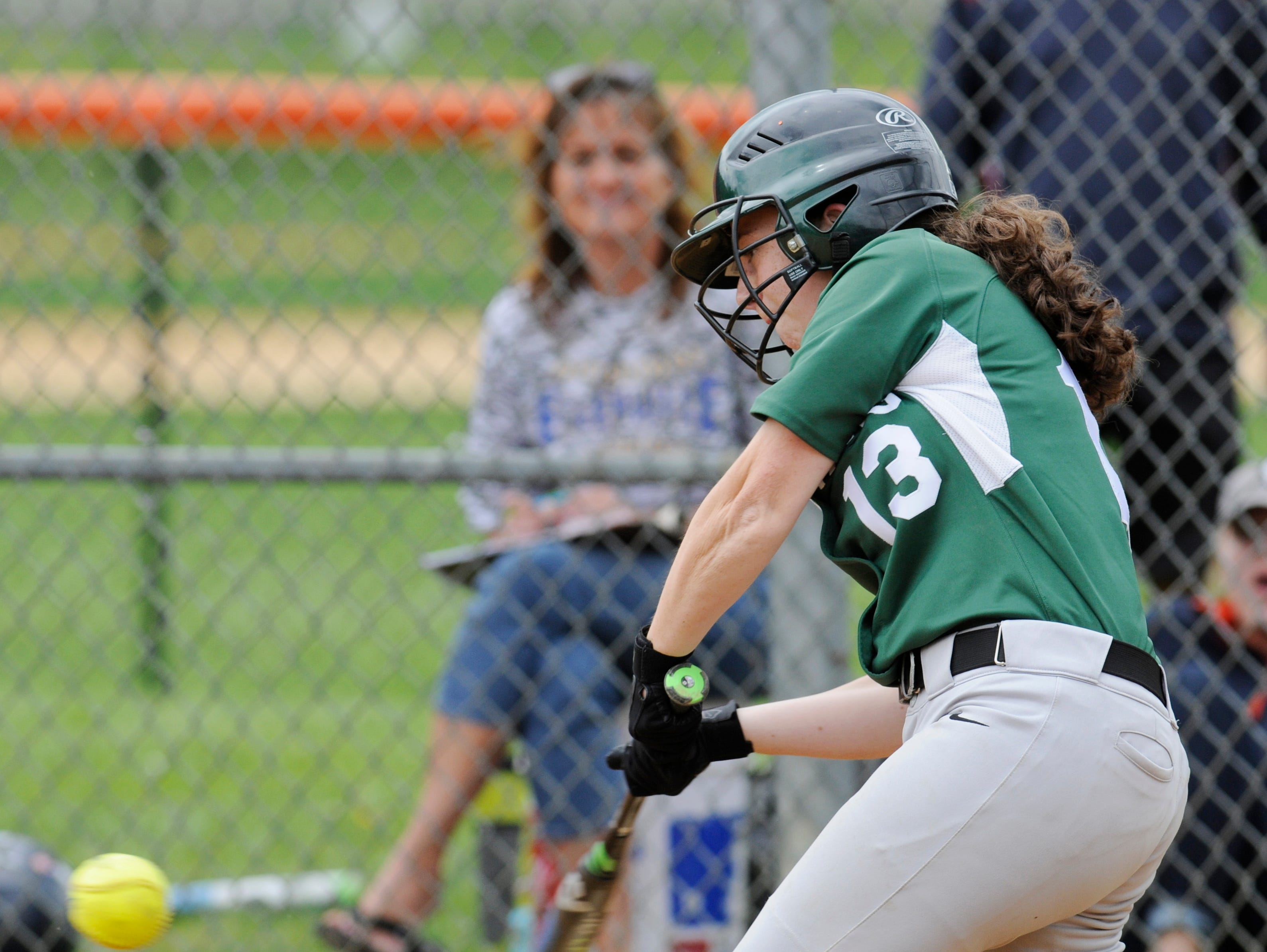 Spackenkill's Charlotte Palumbo hits during Saturday's MHAL Division III title game versus Ellenville held at Marlboro.