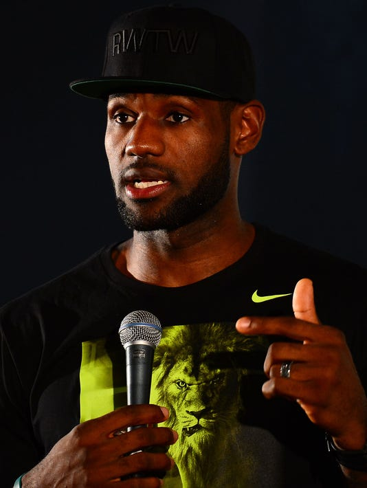 LeBron James in Akron: 'I don't plan on going nowhere'