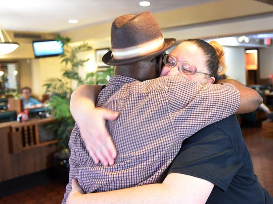 """""""I've been telling everyone all day: 'Just stay away from me and don't talk to me, because I don't want to cry just yet. At 5:00, I'll cry,'"""" Big Boy server Tara McIntosh said Sunday. On the last day of the restaurants operations she gave out hugs including to regular customer Willie Tyson Jr."""