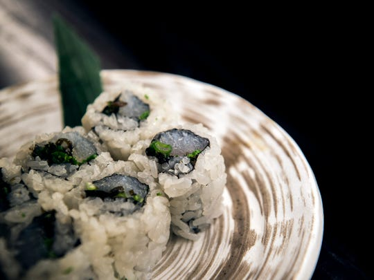 Sushi is the star of the show at Double Knot, including halibut roll.