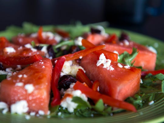 Watermelon feta salad from Steve's Grilled Cheese &