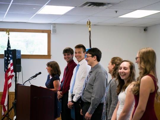 Millville's top ten academic students are honored at