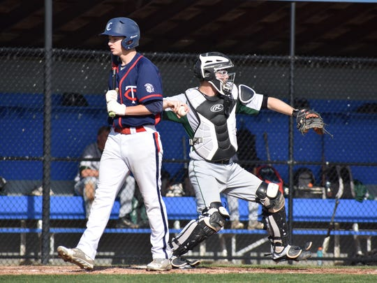 Chambersburg's Max Armstrong walks out of the batters