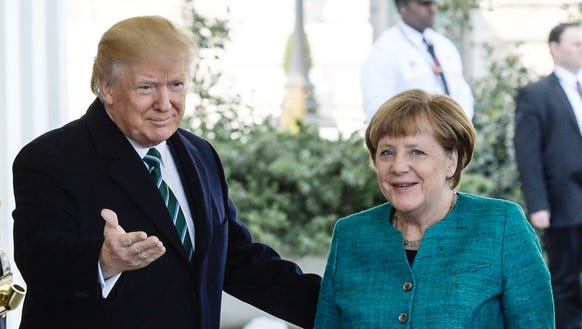 President Trump welcomes German Chancellor Angela Merkel