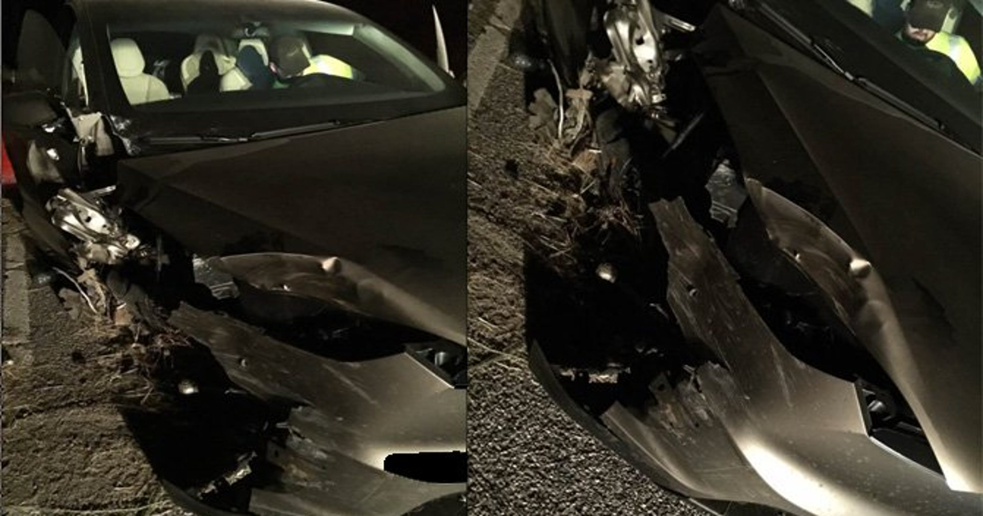 Another Tesla veers off road, crashes into guardrail in Montana