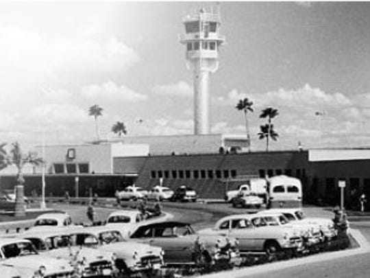 1940: Growing city means more airlines- The U.S. Army brings its headquarters to the airport, later using it as a place to refuel planes during World War II.  By December, airlines at Sky Harbor include American, TWA, Carl Knier's Sky Harbor Air Service and Southwest Airways Inc.  The total number of planes based at Sky Harbor is 35. | Terminal 1 in an undated photo.