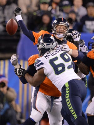 Peyton Manning loses the ball.