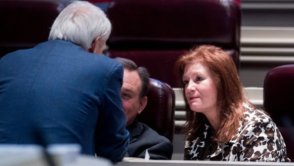 Rep. Terri Collins (R) on the house floor in the Alabama