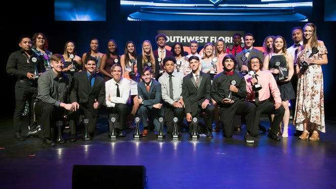 Twenty-nine Lee County high school athletes were honored at the 2018 Southwest Florida Sports Awards on Wednesday, May 23 in Fort Myers.
