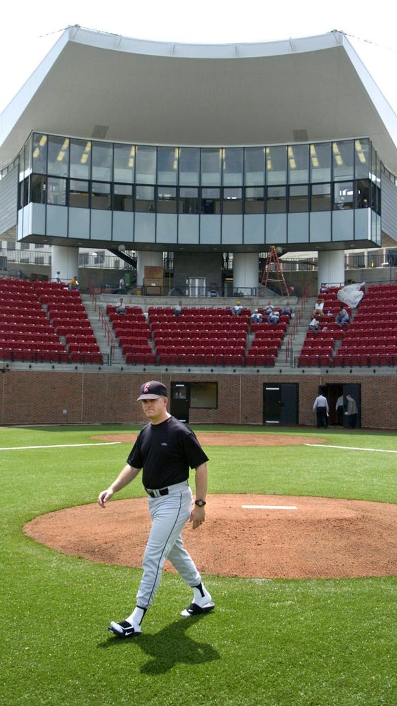 UC head baseball coach Ty Neal at Marge Schott Stadium.