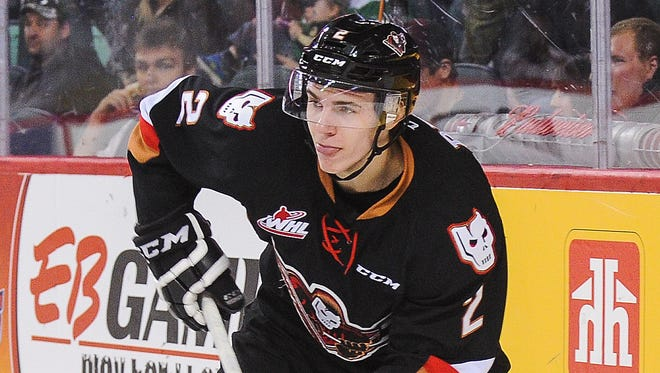 Calgary Hitmen (WHL) defensemen Jake Bean had 24 goals and 64 points in 68 games this past season.