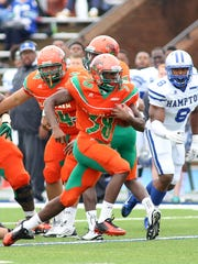 Devin Bowers had a team-high 78 yards on the ground during FAMU's 33-0 loss to Hampton