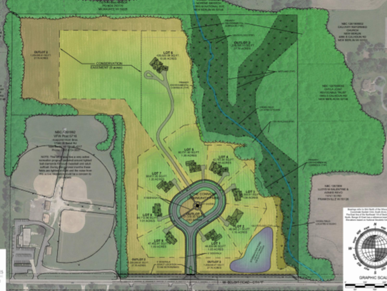 The layout for the Turnberry Estates conservation subdivision,
