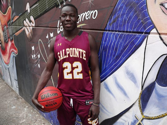 Tucson Salpointe Catholic Prep's Majok Deng is a nominee for Arizona High School Boys Basketball Player of the Year 2017-18. #AZCSA