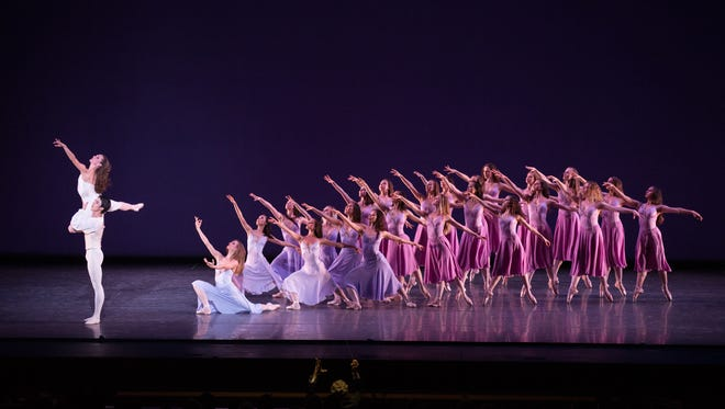 """On Sunday, May 8 at Symphony Hall, the man who reinvented ballet for the 20th century, George Balanchine, will be saluted a jazzy """"Symphony in Three Movements,"""" set to the score by Stravinsky and performed by Ballet Arizona for the first time in its history."""