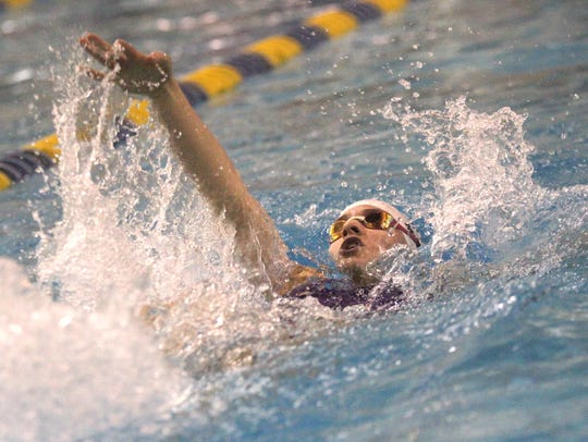 Lexington's Sage Moore swims toward a title in the
