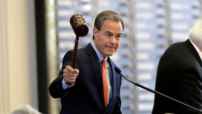 Texas Speaker of the House Joe Straus, R-San Antonio, calls the House of Representatives to order in July 18 in Austin. He announced in a Facebook post that he would not seek re-election.