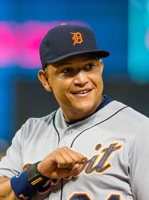 Tigers first baseman Miguel Cabrera