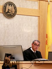 Judge Louis E. DePauli speaks on Wednesday in Farmington District Court at the sentencing hearing for Bobby Willis.
