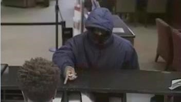 A Suspect sought in connection with a robbery at the Wells Fargo Bank in South Brunswick.