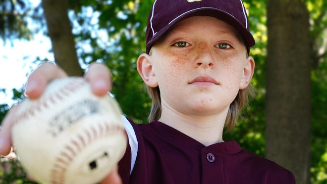Portsmouth Little League pitcher Nicky Beidleman 10, helped lead MoJo's to the 9/10 division championship on Saturday.
