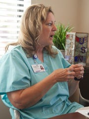 Kathrine Scarfo, Southern Utah Veteran Home Director of Nursing, discusses the connection veterans have with the staff and other patients with similar backgrounds Tuesday, July 17, 2018.