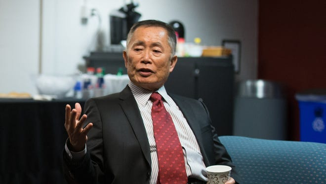 Actor and director George Takei spoke at Clowes Hall, Monday, Feb. 16, 2015, as part of Butler University's Celebration of Diversity Distinguished Lecture Series.