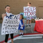 Alamogordo youth collect donations for Hurricane Harvey victims