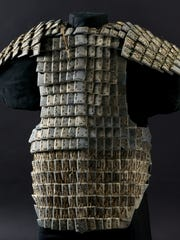 Armor, Qin dynasty (221–206 BC), limestone, Excavated from Pit K9801, Qin Shihuang's Mausoleum, 1999, Shaanxi Provincial Institute of Archaeology