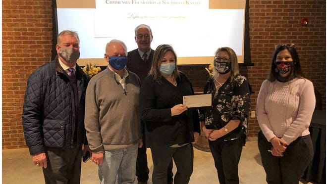 Members of the Rural Education and Workforce Alliance received a $25,000 grant from the Community Foundation of Southwest Kansas for operating expenses in 2021. SUBMITTED PHOTO