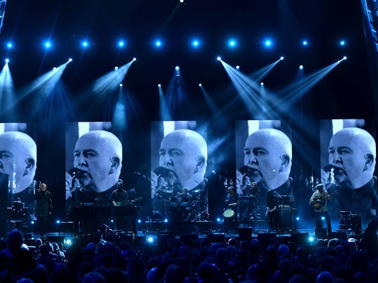 Peter Gabriel performs at the 29th Annual Rock And Roll Hall Of Fame Induction Ceremony  in 2014 in New York City.  The Peter Gabriel and Sting tour is July 15 at Lake Tahoe Outdoor Arena at Harveys.