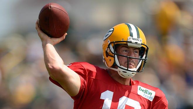 Green Bay Packers quarterback Scott Tolzien.