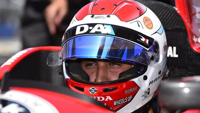 Graham Rahal is third in the Verizon IndyCar Series drivers' standings leading into Saturday's Iowa Corn 300.