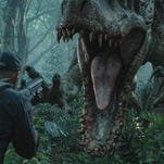 "DNA from the raptors and a T Rex are mixed for ""Jurassic World's"" Indominus Rex."