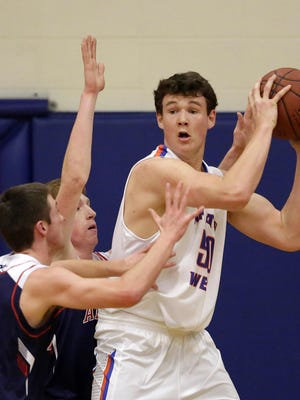 Jack Flynn (right) of Appleton West was a first-team selection in Division 1 on the Wisconsin Basketball Coaches Association all-state team.