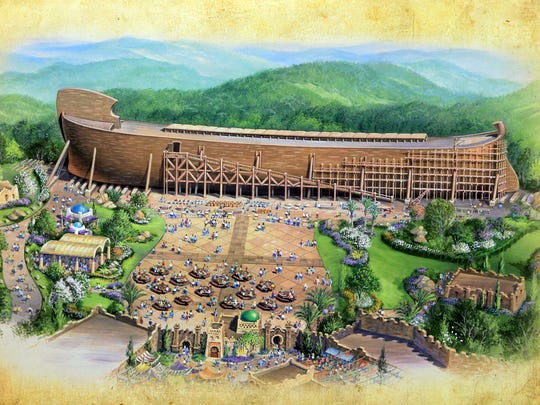 Patrick Reddy/the cincinnati enquirer A rendering of the Ark Encounter, a Noah?s Ark-themed park planned for a site in Grant County in Northern Kentucky that will feature a 510-foot-long replica of Noah's Ark. A rendering of the Ark Encounter, a Noah's Ark-themed park planned for a site in Grant County in Northern Kentucky that will feature a 510-foot-long replica of Noah's Ark.