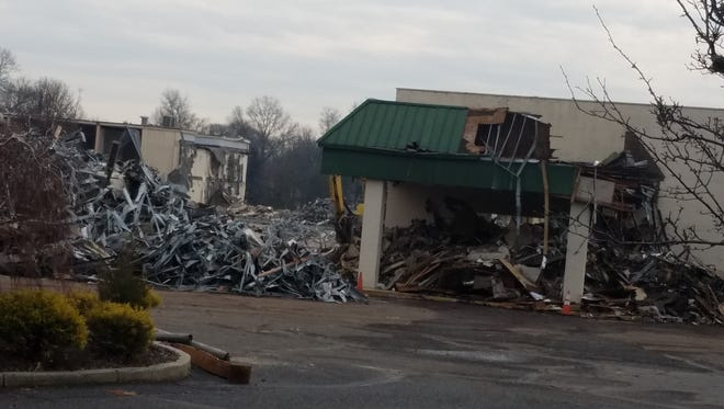The Days Inn on Route 22 in Bridgewater has been demolished to make way for two hotels.