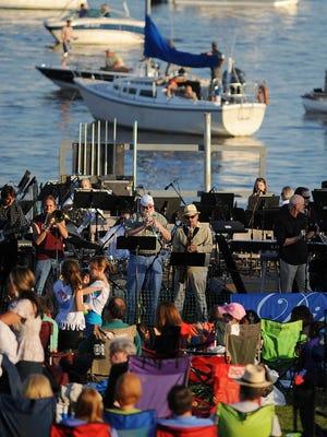 Musicians entertain attendees at Pepsi Pops at Old Trace Park at the Ross Barnett Reservoir in Ridgeland.