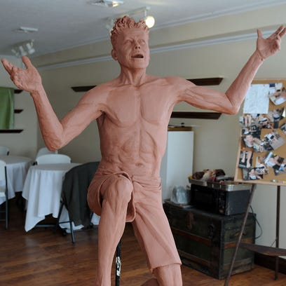 Sacksteder is currently working on two full-sized sculptures