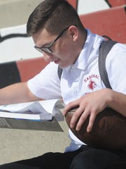 Santa Paula High's Thomas Sanchez showed his resolve