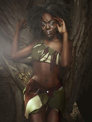 Victoria Parker models African culture inspired fashion