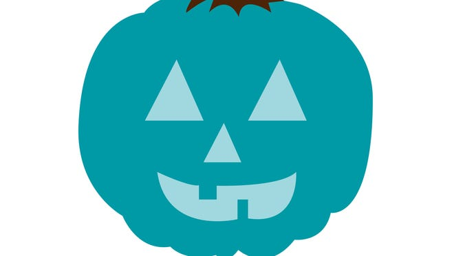 A teal pumpkin means non-food treats are available.